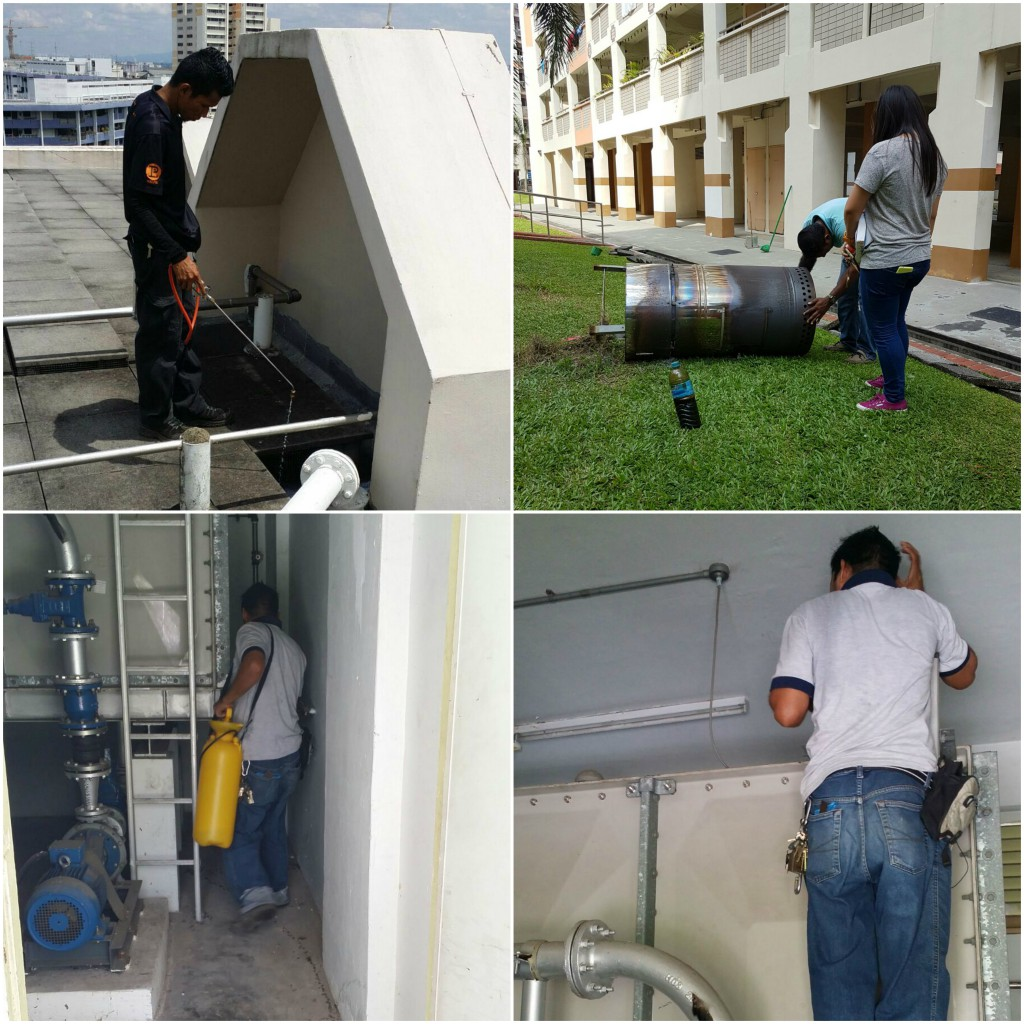 1. Inspection and Oiling Treatment at Rooftops, Pump Rooms & Common Facilities